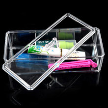 2018 Clear Acrylic Jewelry Makeup Storage Box Toiletry Organizer Dustproof Case Tool