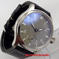 47mm parnis grey dial seagull 6497 Mechanical Hand-winding mens wrist watch P101