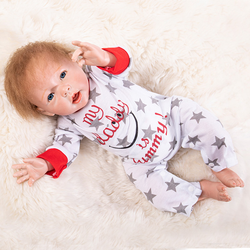 50cm Lifelike Reborn Baby Doll 20 Inch Sleeping Princess Girl Babies Silicone Newborn Doll Toy with Mohair Kids Playmate50cm Lifelike Reborn Baby Doll 20 Inch Sleeping Princess Girl Babies Silicone Newborn Doll Toy with Mohair Kids Playmate