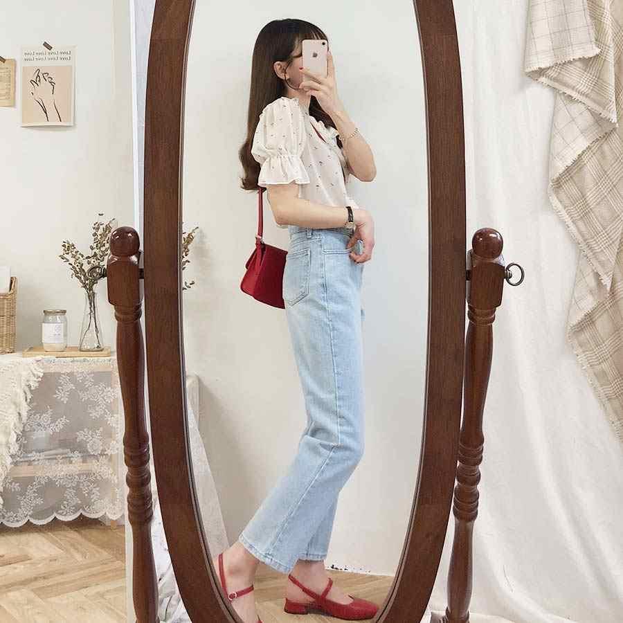 新しい白シャツファムカジュアル女性半袖トップスドットプリントシフォン女の子ブラウスプラスサイズ夏の女性のブラウスファム blusas
