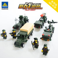 KAZI Models Building toy Compatible with K84052 486pcs Missile Launch Car Blocks Toys Hobbies For Boys Girls Building Kits