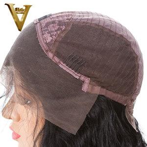 Image 5 - 13х4 прямые парики из натуральных волос на кружеве с челкой, предварительно выщипанные бразильские человеческие волосы Remy с бахромой 8 24 для женщин 180%