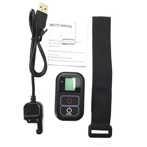 Image 3 - Go Pro WiFi Afstandsbediening + Lader Kabel Polsband Waterdichte GoPro Remote Case voor Hero 8 7 6 5 zwart 4 sessie 3 + Accessoire