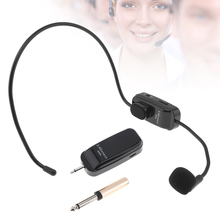 UHF Wireless Headset Microphone 2 In 1 Handheld Portable MIC Voice Changer Amplifier with 3.5mm/6.5mm Plug Receiver for AUX/MIC стоимость
