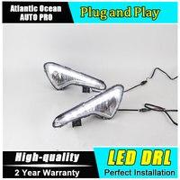 A T Car Styling For Hyundai VERNA LED DRL VERNA Led Fog Lamps Daytime Running Light