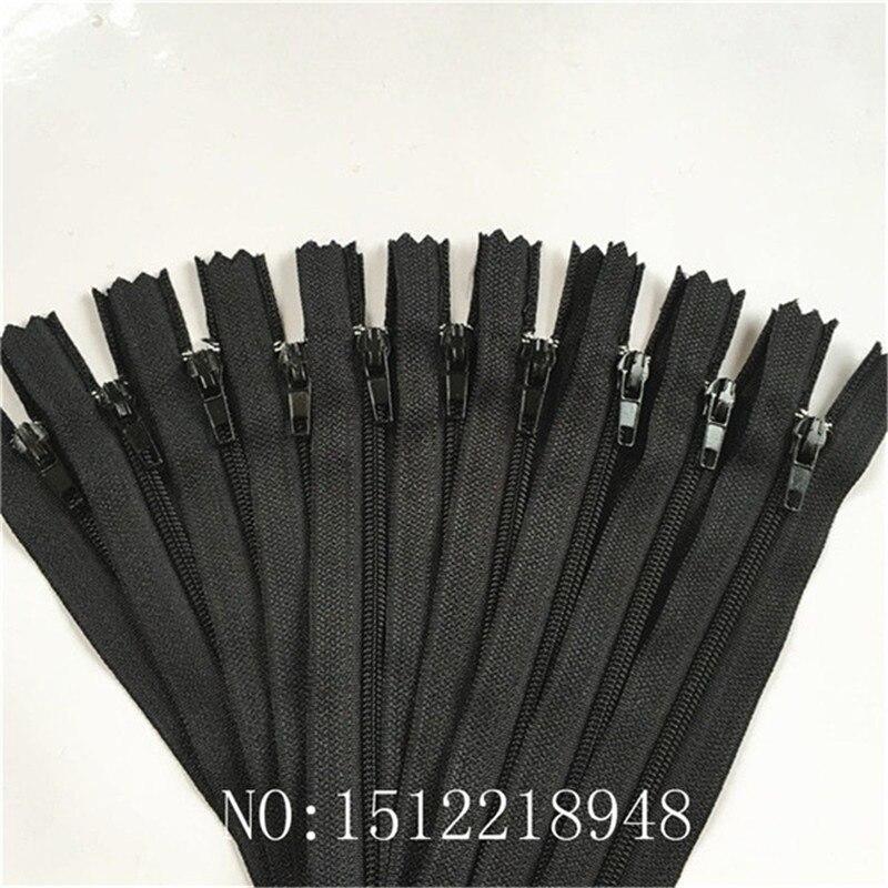Korbond Metal Zip 12cm Black Open Sewing Dresses Trouser Pocket Skirt Open Ended