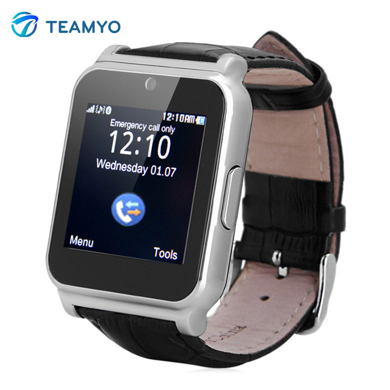 W90 Bluetooth Smart Watch Men Luxury Leather Business Smartwatch Knight Full View HD Screen for IOS
