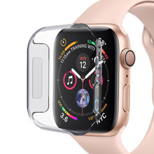 PC Hard Protective Case Shell Frame For iwatch Apple Watch Series 2/3/4/5/6/SE 38mm 42mm 40mm 44mm Screen Protector Glass Cover