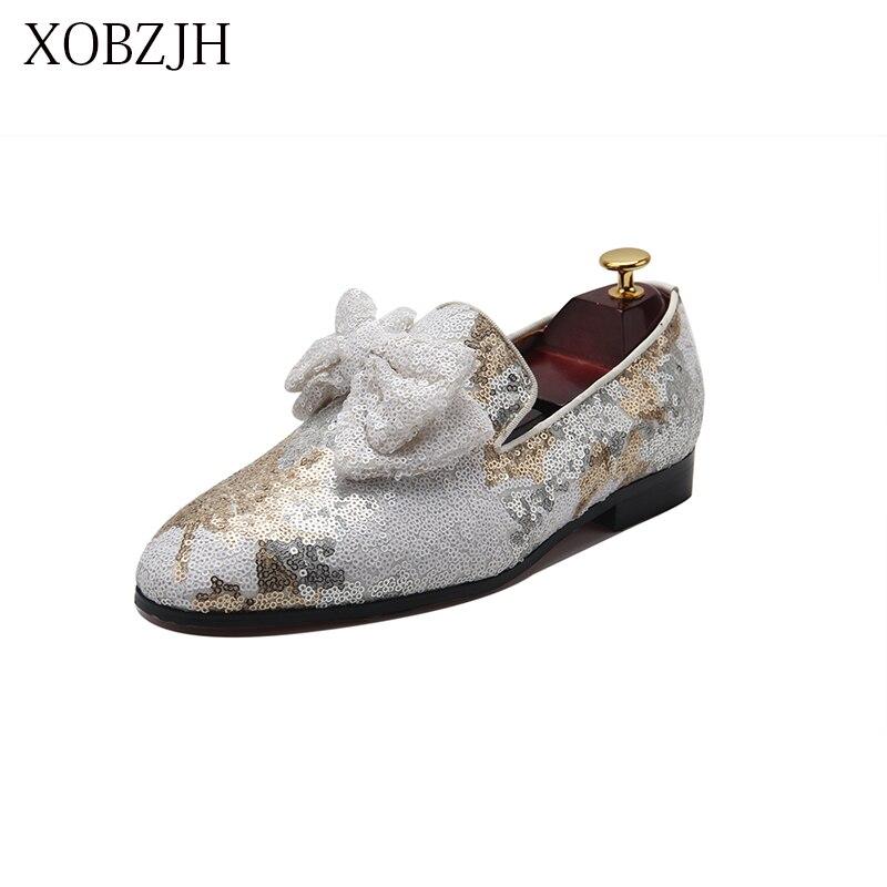 Мужская обувь Лоферы XOBZJH, белые лоферы на свадьбу, лето 2019 - 2