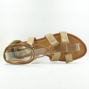 Image 4 - Plus Size 5 10  Fashion Gladiator Sandals Women Sexy Cutout Knee High Sandalias 2018 Summer Style Casual Flip Flops Shoes Woman
