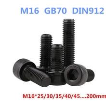 AXK M16-1PCS DIN912 12.9 Hexágono Parafusos de Cabeça de Soquete/Parafusos M16 * 25/30/35/40/45… 200mm