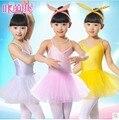 Criança dança prática saia vestido com alças de ombro-trajes de balé