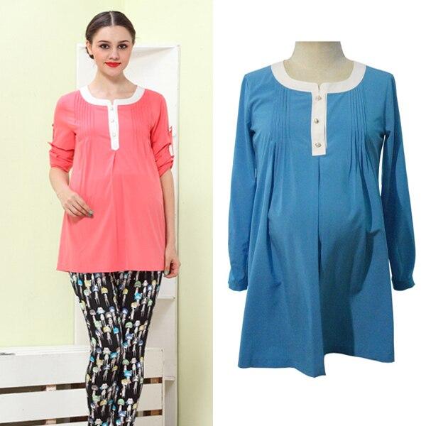 51472090325c2 Long Sleeve Maternity Shirt