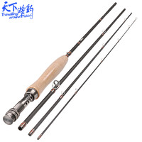 New 2.4m/2.7m 4 Section Fly Fishing Rod 3/4 5/6 Weight Fast Action Olta Carbon Fly Rods Canne A Peche Fishing Tackle De Pesca