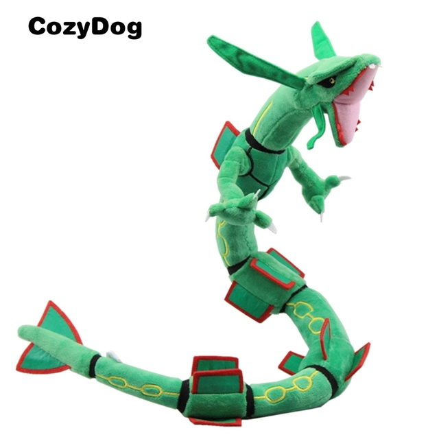 Anime Rayquaza Plush Toy Pikachu Series Dolls Soft Stuffed Rayquaza Figure Toys for Children Xmas Gift