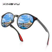 DESIGN Men Women Classic Retro Rivet Polarized Sunglasses TR90 Legs Lighter Design Oval Frame UV400 Protection