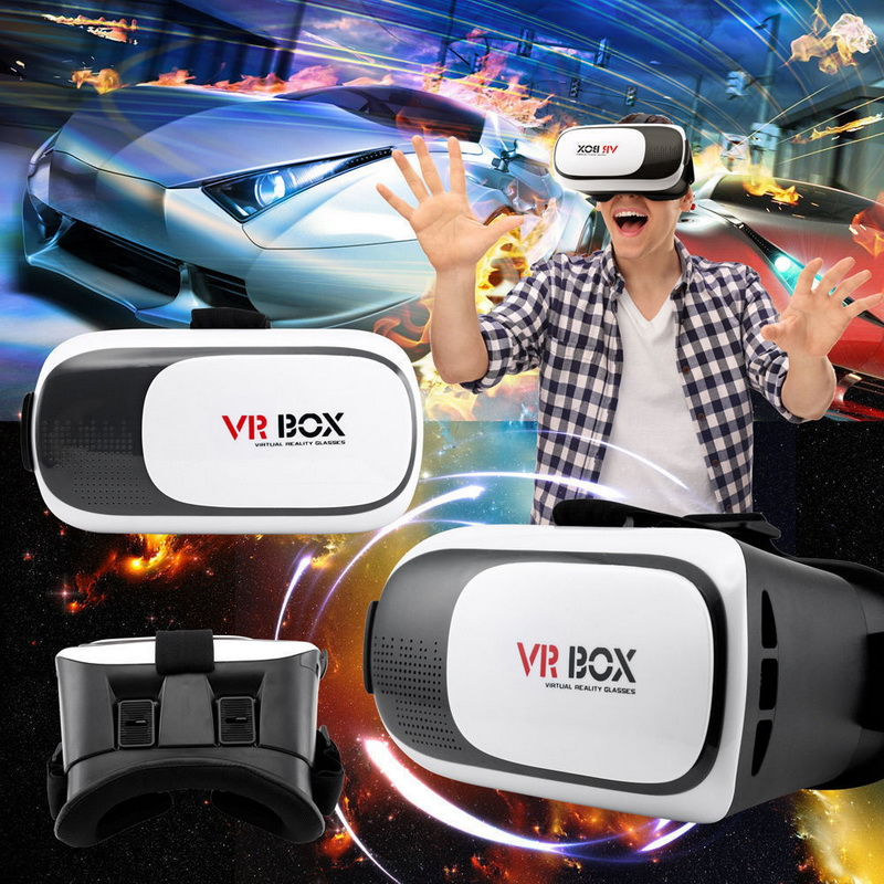 VR BOX 2.0 II Google 3D Glass Glasses/ VR Glasses Virtual Reality Case Cardboard Headset Helmet For iPhone 7 6 6s 5 Mobile Phone 3