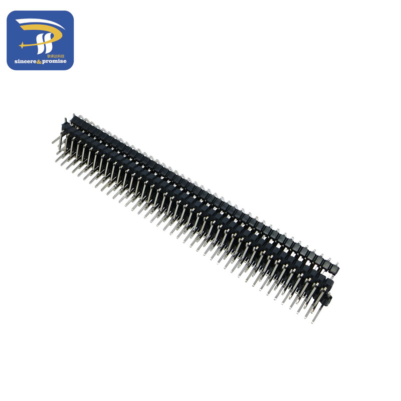 200Pcs 2.54 mm pitch 1x40 pin 40 broches mâle Single Row Straight Pin Header Strip