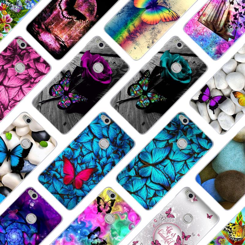 MLLSE Красочные красивая бабочка чехол с цветами Крышка для huawei NOVA 3 3i 4 Honor V20 8X 8A 7A Pro 7X 7C 7i 8 9 10 Lite Play