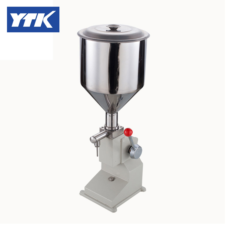 Pneumatic Filling Machine (5~50ml) for Cream & Shampoo & Cosmetic with foot pedal