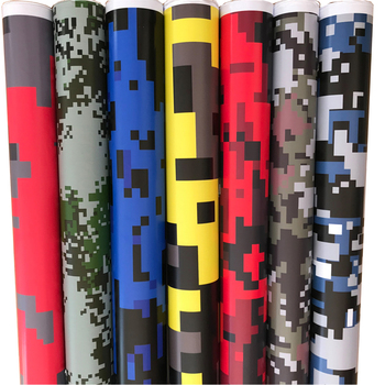 HOT Digital Printed Camo Vinyl Film Wrapping Motorcycle Scooter Car Sticker Wrap Car Styling Foil Pixels Camouflage Film Wraps image