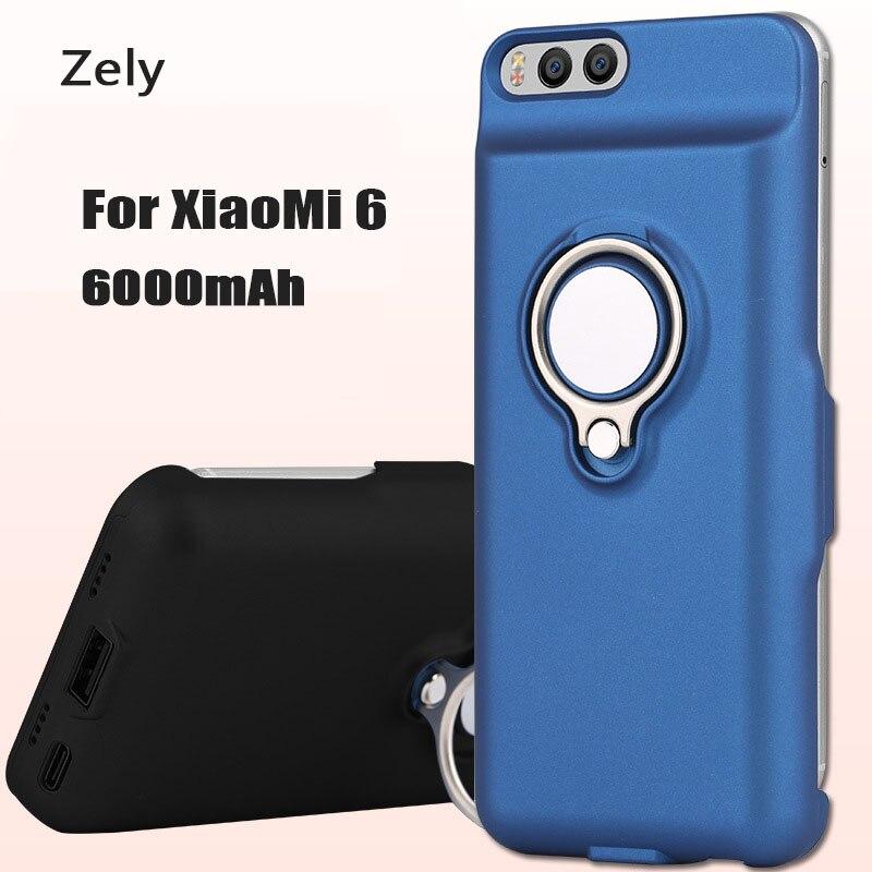 Цена за 6000 г. Роскошные мАч Мощность банк Портативный Зарядное устройство резервного копирования Батарея защитить телефон чехол для Xiaomi 6 Mi6 Батарея Зарядное устройство крышка Пакет