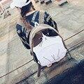 Gato de la historieta de la manera de las mujeres bolsas escuela lienzo mochilas nuevo estilo de muy buen gusto ocasional lindo Divertido de impresión Corea niñas mochila, LB2459