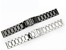 Free Shipping For gear s 3Samsung 22MM solid three-ball switch quick unplug ear stainless steel strap 18MM 20 MM 24