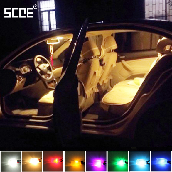 5 Piece/set SCOE Front Readling Lamp+Rear Reading Lamp+ Trunk Lamp Interior Dome Luggage Map Light For Skoda Octavia 1Z3