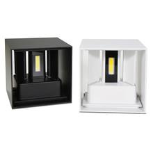 Современные 6 W 12 Вт светодиодный настенный светильник Открытый Водонепроницаемый IP65 бра из алюминия комнатная настенная лампа регулируемый спальня прихожая веранда балкон