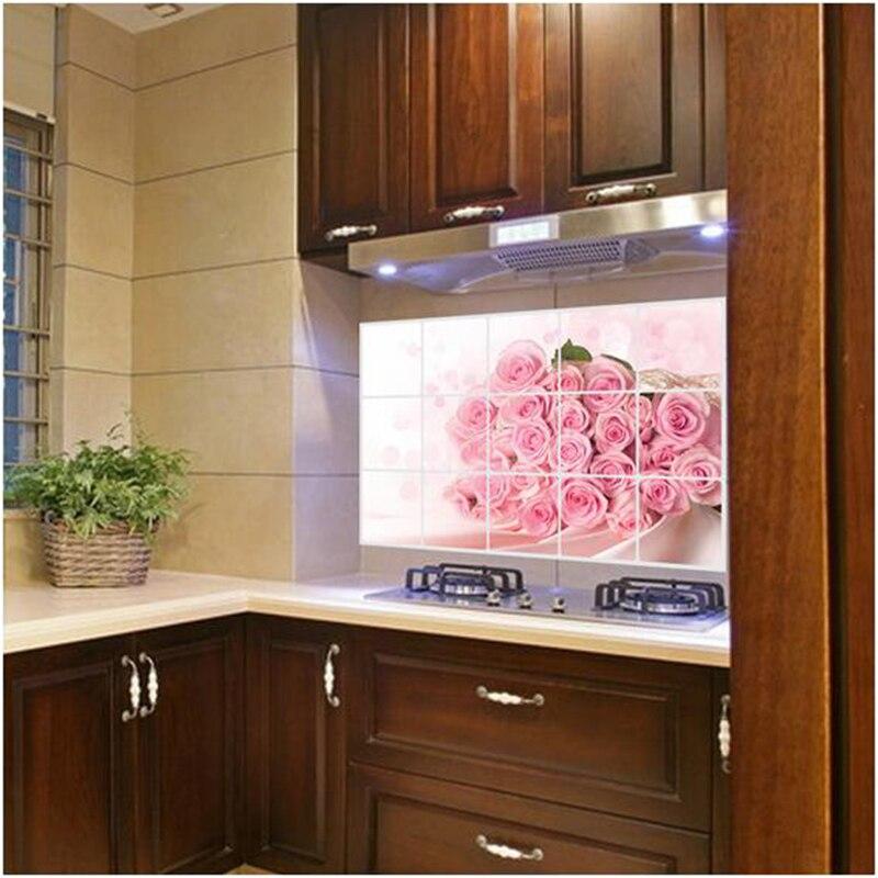 ZUCZUG Pink Rose Adesivi Per Cucina Finestra Adesivi Pellicola ...