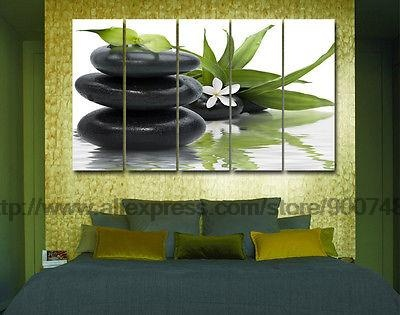 Zen Pebbles Flower Modern Decor Wall Canvases Interior Oil Painting Home Decor Wall Picture Huge Picture