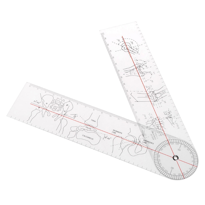2019 New Medical Teaching Goniometer Angle Medical Ruler Rule Joint Orthopedics Tool Instruments Plastic