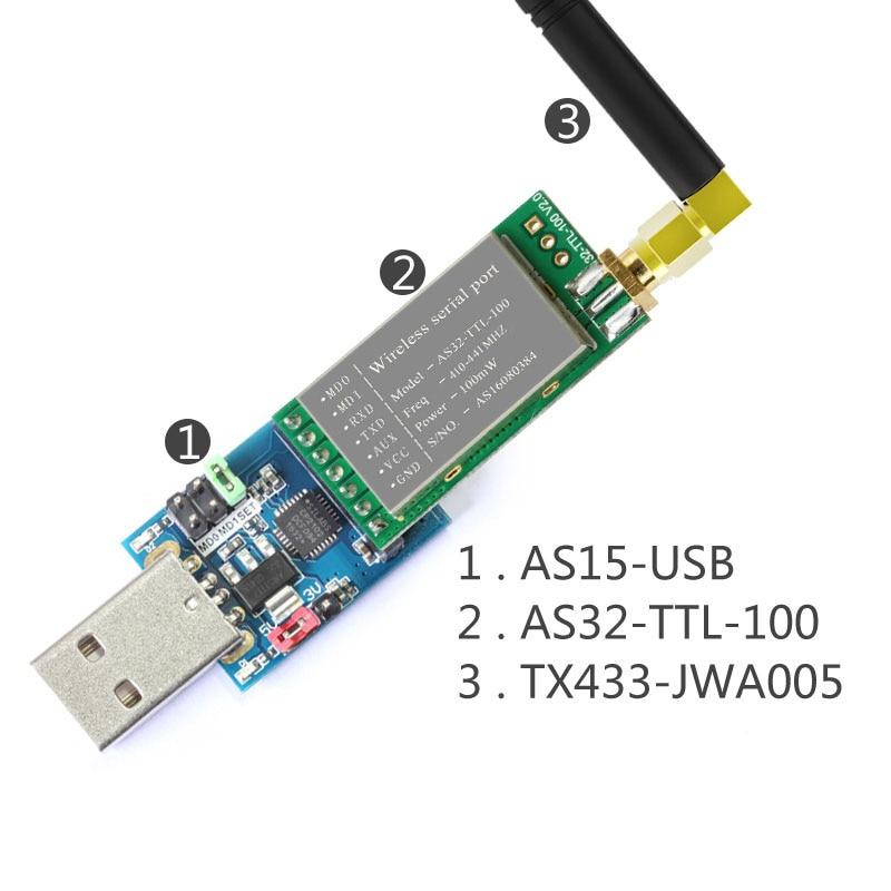 433 МГц SX1278/SX1276 LORA беспроводной модуль 100 МВт 3000 м Дальний диапазон lora спектр беспроволочный последовательный порт UART трансивер