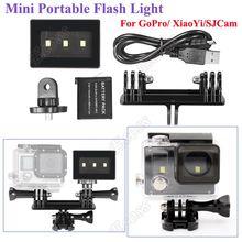 For GoPro Mini Portable Flash Light LED Lamp+Battery+Holder Mount For Hero4 3+3 SJCam SJ4000 SJ5000 SJ6000 XiaoMi Yi Accessories