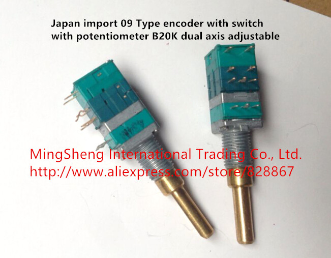 Original new 100% Japan import 09 type encoder with switch with potentiometer B20K dual axis adjustable original new 100% japan import 84pw031 pcu p248 cxa 0437 inverter power accessories