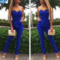 Slim Long Jumpsuit Women Off Shoulder Sexy Bodysuit Macacao Feminino Strapless Women Overalls Plus Size Jumpsuit Free Shipping