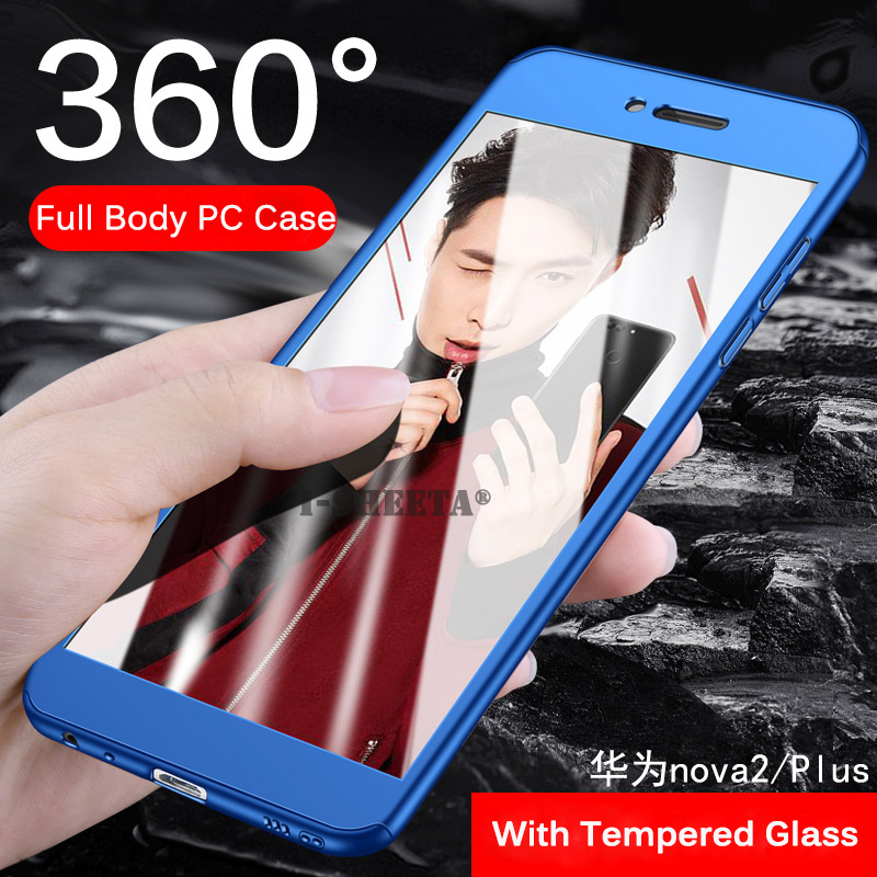 best website e0dfd a9227 US $1.79 25% OFF|For Huawei Nova 2 Lite 2S Case Hard Shockproof Cover 360  Full Protection Case With Free 9H Tempered Glass For Huawei Nova 2 Plus-in  ...