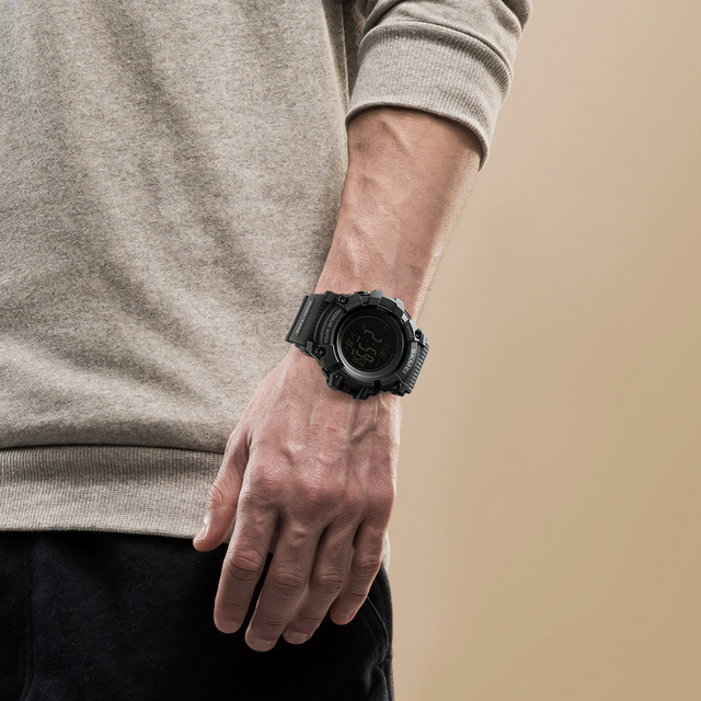SKMEI Mens Sport Watch Fashion Men's Digital Watch Altimeter Barometer Compass Temperature Weather Electronic Luxury Men Watches 5