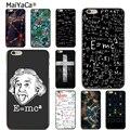 MaiYaCa funda de silicona para iPhone8 x 5S 6 S 7 plus E = mc2 ecuación matemática física fórmula accesorios de la caja del teléfono cubierta coque