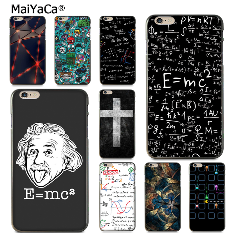 MaiYaCa silikonfodral För iPhone8 x 5s 6s 7 plus E = mc2 Matematisk ekvation Fysisk formel Telefon Fall Tillbehör Cover coque