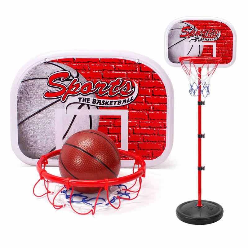 Indoor Sports Game Kids Adjustable Basketball Hoop Stand Funny Toy Set