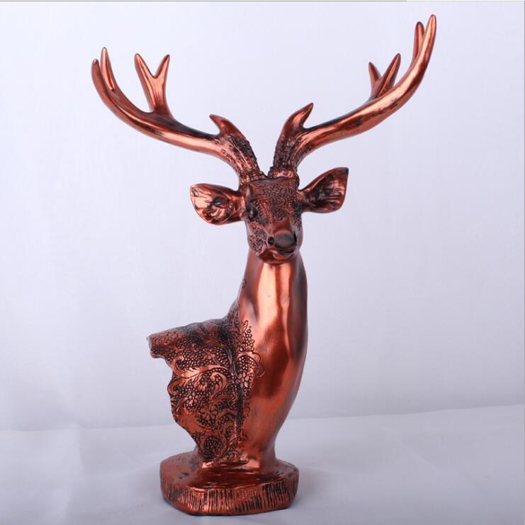 Résine cerf Table artisanat Statue bijoux accessoires bougeoir 4 bras bougeoir de mariage chandelier candélabre - 6