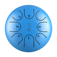 6 Inch 8 Notes Instrument G Tune Tank Percussion With Mallets Mini Music Education Hand Pan Steel Tongue Drum Gift Professional