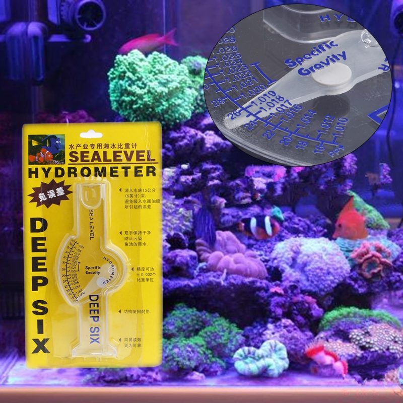 Ocean Hydrometer Reef Fish Tank Aquarium Water Salinity Specific Gravity Test coral reef fish