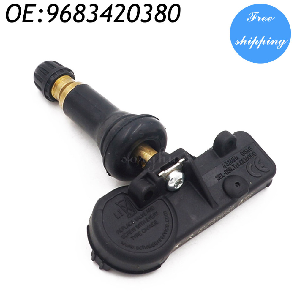 9683420380 433MHZ Tire Pressure Monitor Sensor For Peugeot Citroen Picasso C4