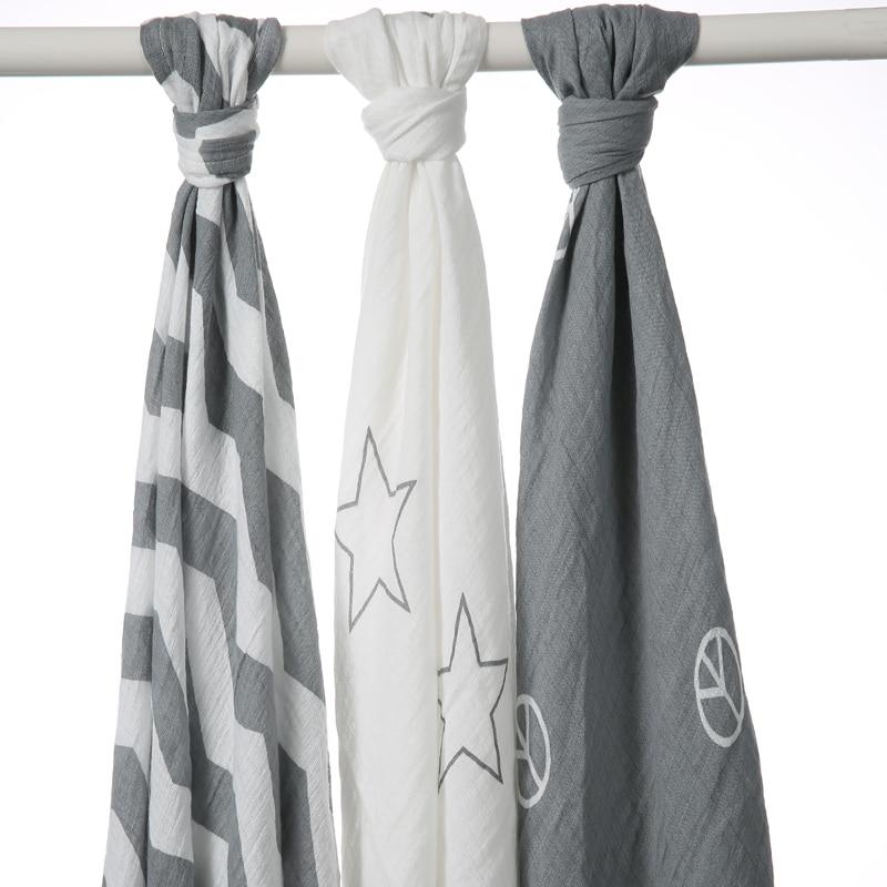 One pack Muslin Baby Swaddling Blanket Newborn Infant 100% Cotton Swaddle Towel Random Delivery Random send