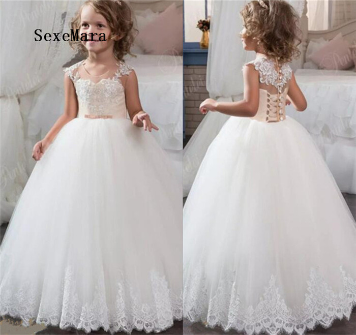 New Arrival Flower Girl Dresses For Weddings First Communion Dresses For Girls Birthday Party Christmas Gown Custom Made free shipping dhl custom made new arrival sexy red pvc zentai catsuit zentai suit for halloween party front zipper zp1508