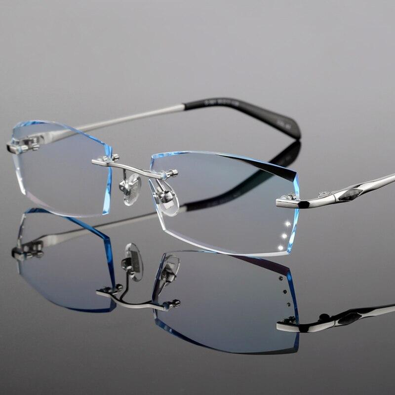 Brillen für männer Rahmenlose brille kurzsichtigkeit weitsichtigkeit ...