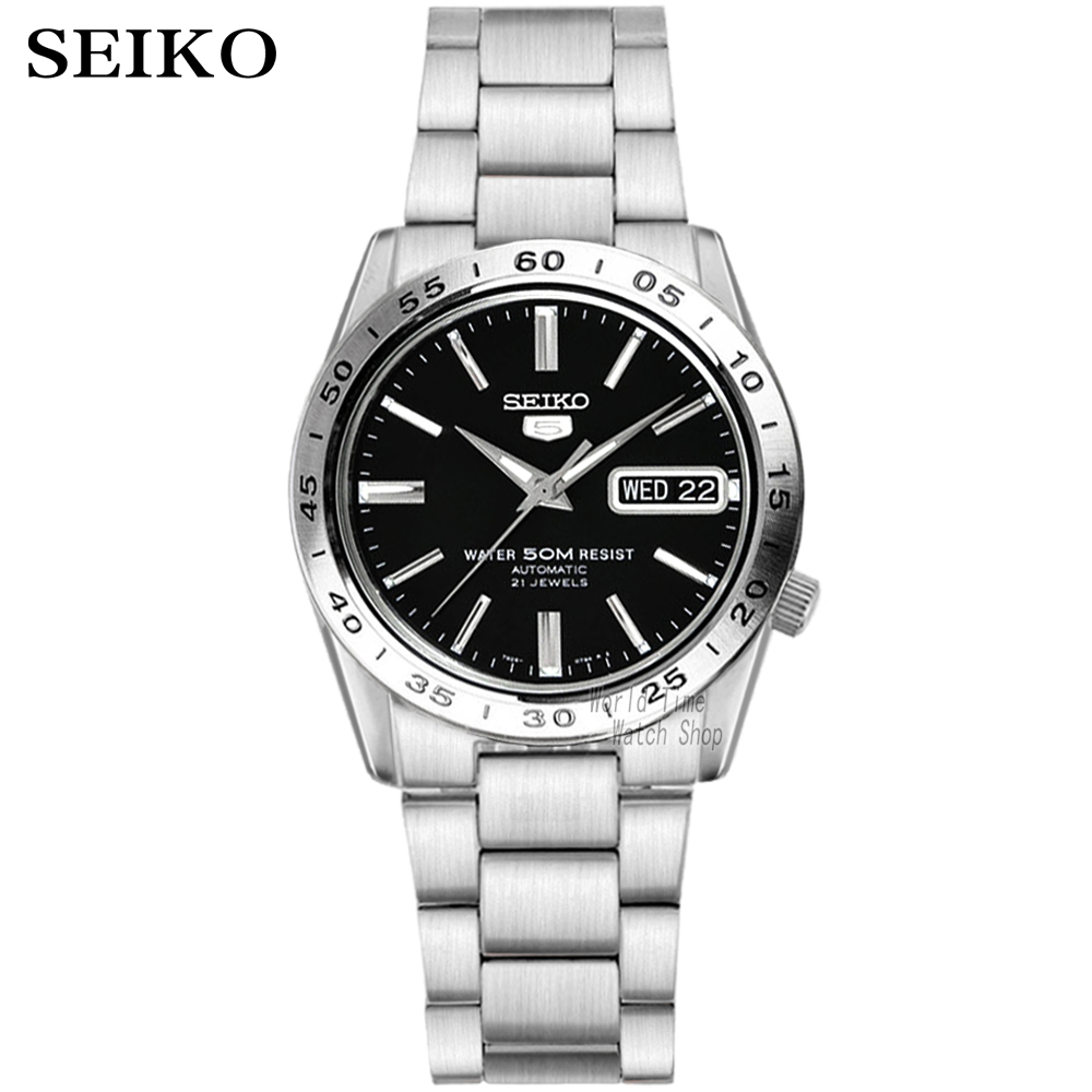 seiko watch men 5 automatic watch top brand luxury Sport men watch set waterproof mechanical military watch relogio masculinoSNK-in Mechanical Watches from Watches